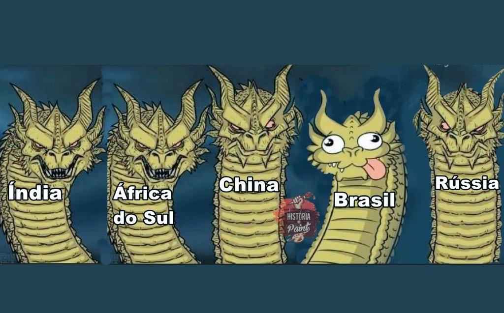 🤪🤣😜😜Reunião hoje dos BRICs...🤪🤣😜😂😂chorei, de vergonha...