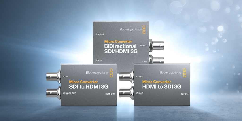 RT @Blackmagic_News: New Blackmagic Micro Converter 3G models! The world's smallest broadcast quality converters with 3G-SDI and new advanc…