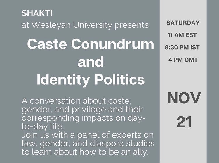 "test Twitter Media - Join in on the ""Caste Conundrum and Identity Politics"" conversation this Saturday, hosted by Shakti, the South Asian Student Coalition at Wesleyan https://t.co/OwJQpiYPD6 https://t.co/WRXgPB8yGk"