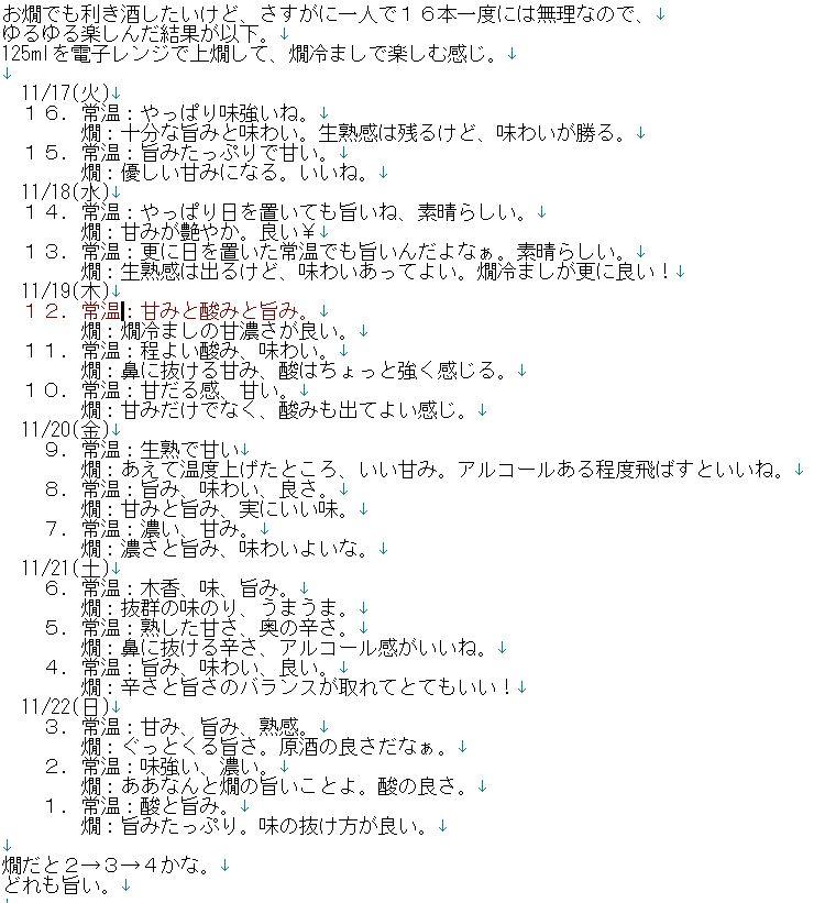 test ツイッターメディア - 上原酒造の「不老泉」初呑み切り全16本セットの利き酒追加で燗酒もしたのでやっぱり画像で。1週間ちょいで全部利き酒して呑み切った #sake #日本酒 #不老泉 https://t.co/QZPboy9e9y