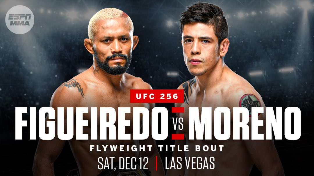 Less than two hours after his first flyweight title defense, Deiveson Figueiredo already verbally agreed to face top contender Brandon Moreno next month at UFC 256, multiple sources told @arielhelwani.  Moreno has verbally agreed to the fight as well, sources said.