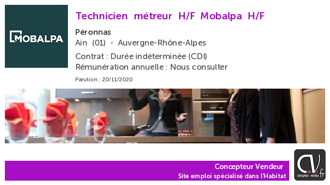 test Twitter Media - Offre d'emploi  Technicien métreur H/F - Mobalpa - Péronnas (01) https://t.co/LzvnQMTT96 https://t.co/OsVDrU3VFo