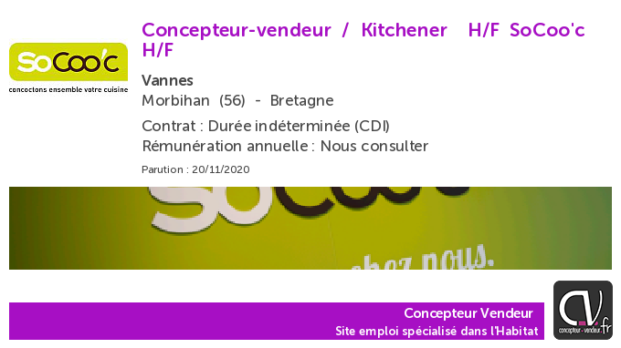 test Twitter Media - Offre d'emploi  Concepteur-vendeur / Kitchener  H/F - SoCoo'c - Vannes (56) https://t.co/6PLhu9MPvz https://t.co/9QImfChYZU