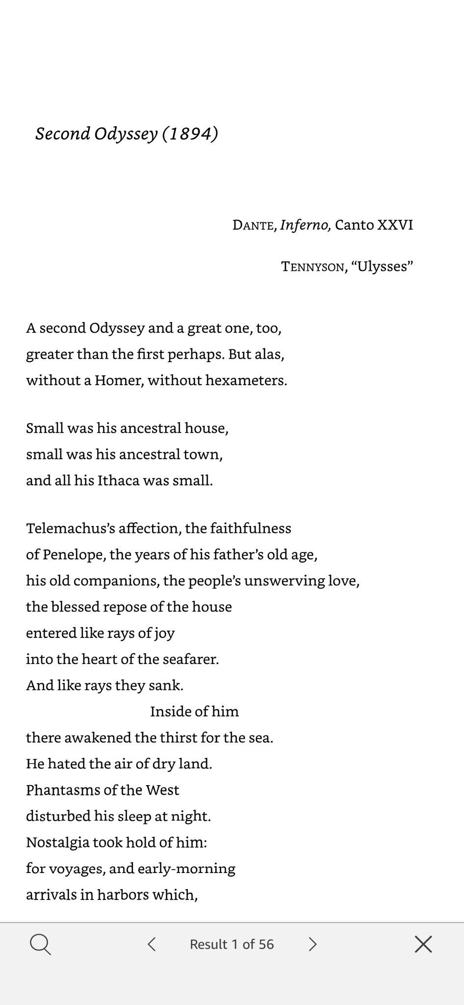 "Admirers of #Cavafy's ""Ithaca"" (1911)—perhaps his most famous poem—might be interested to know that it's a rewrite of an 1894 work in which his interest in the #Odyssey myth & its reworking by #Dante & #Tennyson is already evident. Not a great poem—except for the amazing kicker: https://t.co/4MT8KBGA4B"