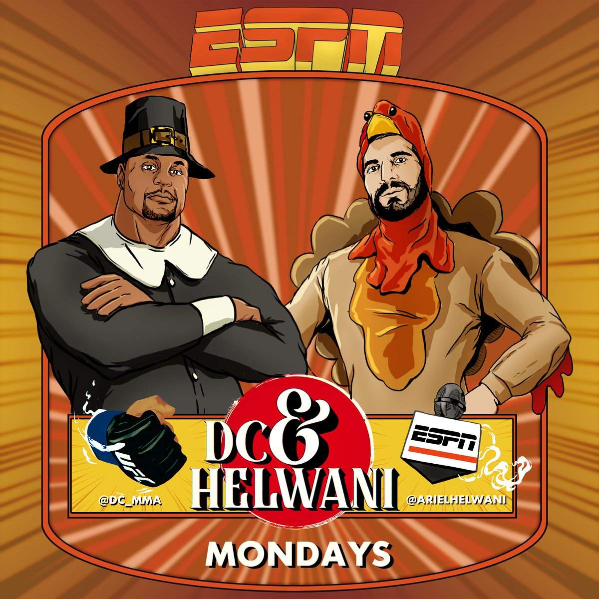 Happy thanksgiving everyone new episode of DC and Helwani is about to be live in 5. We talk @ufc 255 and so much more. Tune in