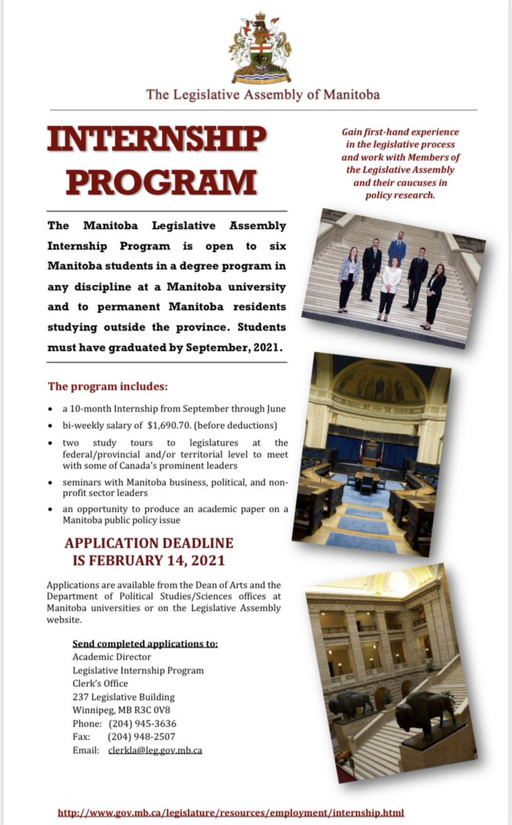 test Twitter Media - Apply for the 2021-2022 Manitoba Legislative Internship Program! Please look at the poster attached and our facebook page for more information about the program. #umanitoba #politics #cdnpoli #apply #winnipeg #manitoba https://t.co/m8zqAOy964