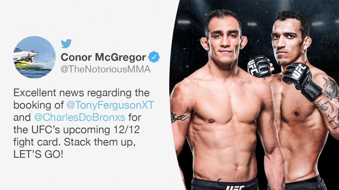 Conor McGregor likes seeing competition between some of the lightweight division's best.  (via @TheNotoriousMMA)