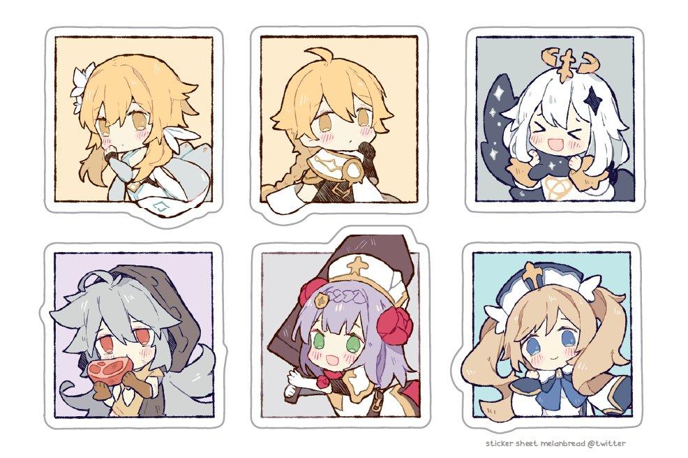 genshin sticker sheets, coming soon ☄️