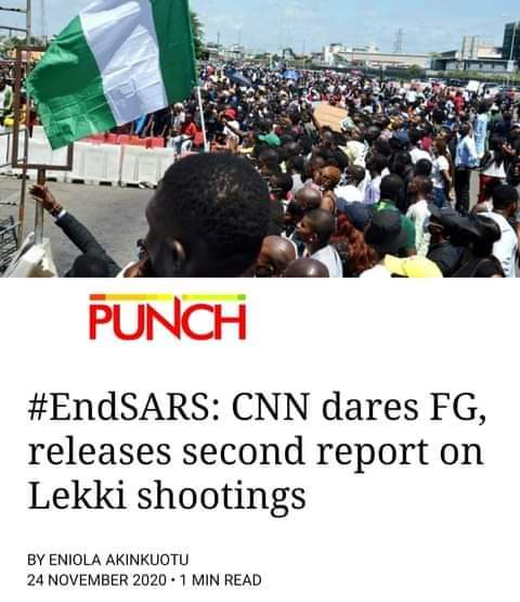 They think #CNN is our local TV stations, they will stop at nothing until all this wicked leaders are expose and brought to book. #LekkiMassaccre #EndSarsNow #EndPoliceBrutality #EndBadGovernmentInNigeria.