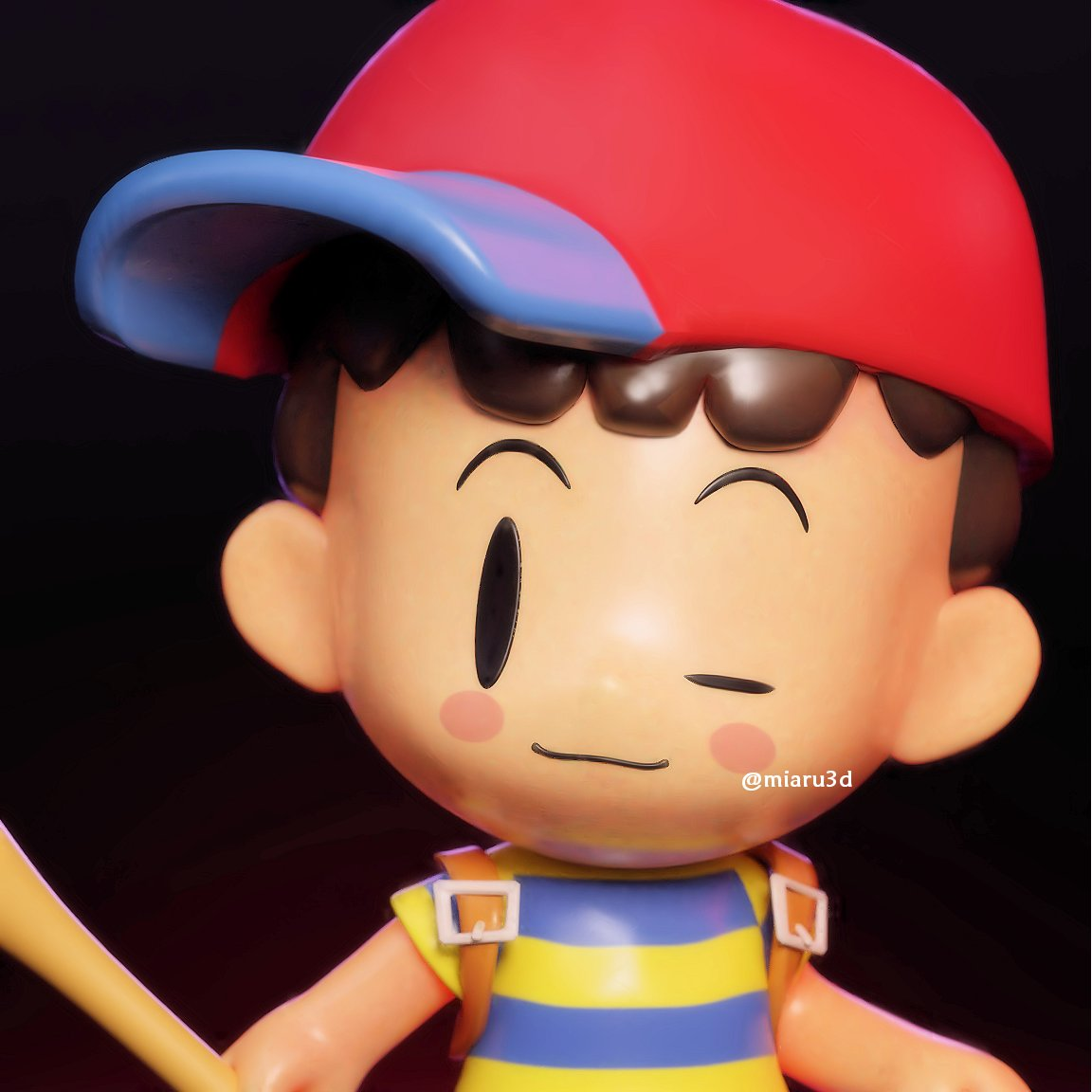 ✨@meowwniz commissioned me to make Ness in the style of The Legend of Zelda: Link's Awakening Loved the artstyle of the game ✨  #blender #b3d #earthbound #LegendOfZelda #3dart
