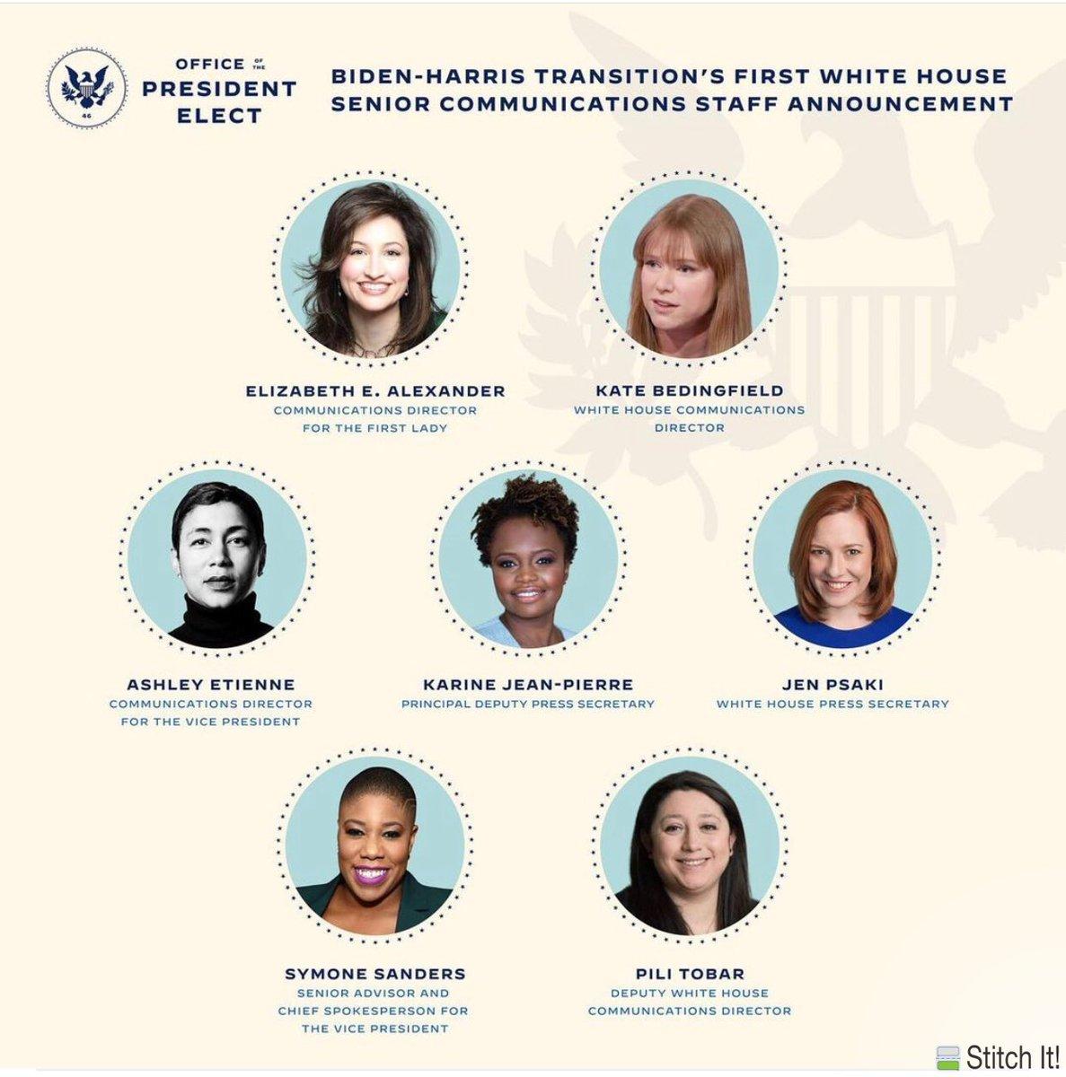 test Twitter Media - The all-female incoming Senior White House Communications team https://t.co/cbzkG9YCrI