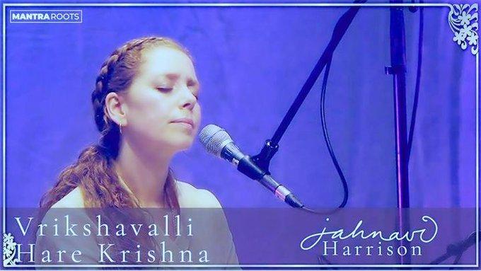 Vrikshavalli Hare Krishna — Jahnavi Harrison — LIVE at The Shaw Theatre, London (19 min. vid....