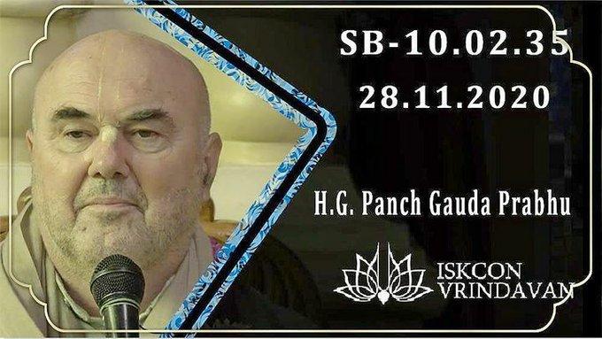 Srimad Bhagavatam class by HG Panch Gauda Prabhu in ISKCON Vrindavan (video)Watch it here: