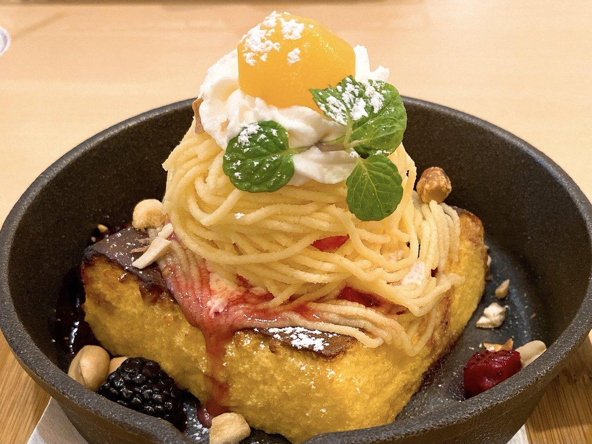 test ツイッターメディア - コロンバン 京王新宿サロン 焼きショートケーキ モンブラン  スポンジを鉄板でフレンチトースト風に焼き上げモンブラン、ホイップ、アイスを乗せたケーキ。 蜂蜜風味の生地はかりふわ。 鉄板で温まったベリーとナッツの香りが良く冷たいケーキより香りも楽しめます。 クリームがとっても美味しいです。 https://t.co/tySInGCUeP https://t.co/qcRcRjAumD