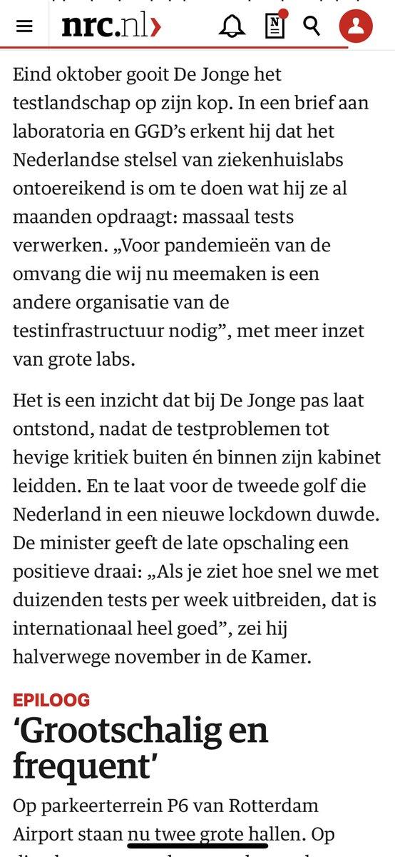 test Twitter Media - Woedendmakend, de manier waarop Hugo de Jonge corona-testen regelde. De incompetentie en koppigheid die blijkt uit deze reconstructie is tergend. Het had allemaal zo anders kunnen zijn https://t.co/kGvXjdwEmc https://t.co/WmjTFMM6Hp