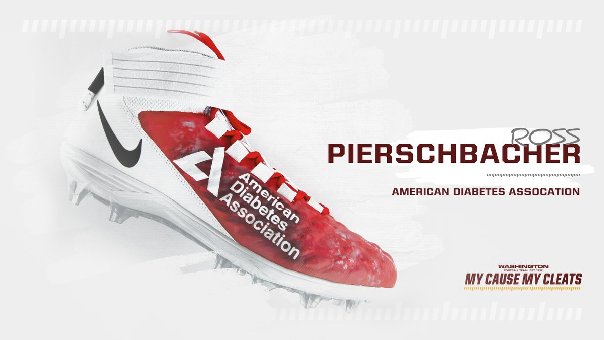 test Twitter Media - Thank you Ross Pierschbacher of the @WashingtonNFL for choosing us as your cause for the #MyCauseMyCleats silent auction in honor of your father who has #t1d, and for helping to raise awareness of #diabetes! Check out his cleats here: https://t.co/DRPF9Numl6! https://t.co/p3sluPxcDY