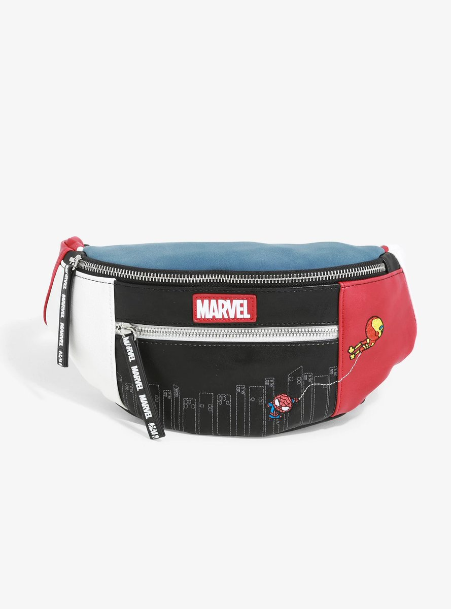 oh my god this little iron dad/spidey son fanny pack