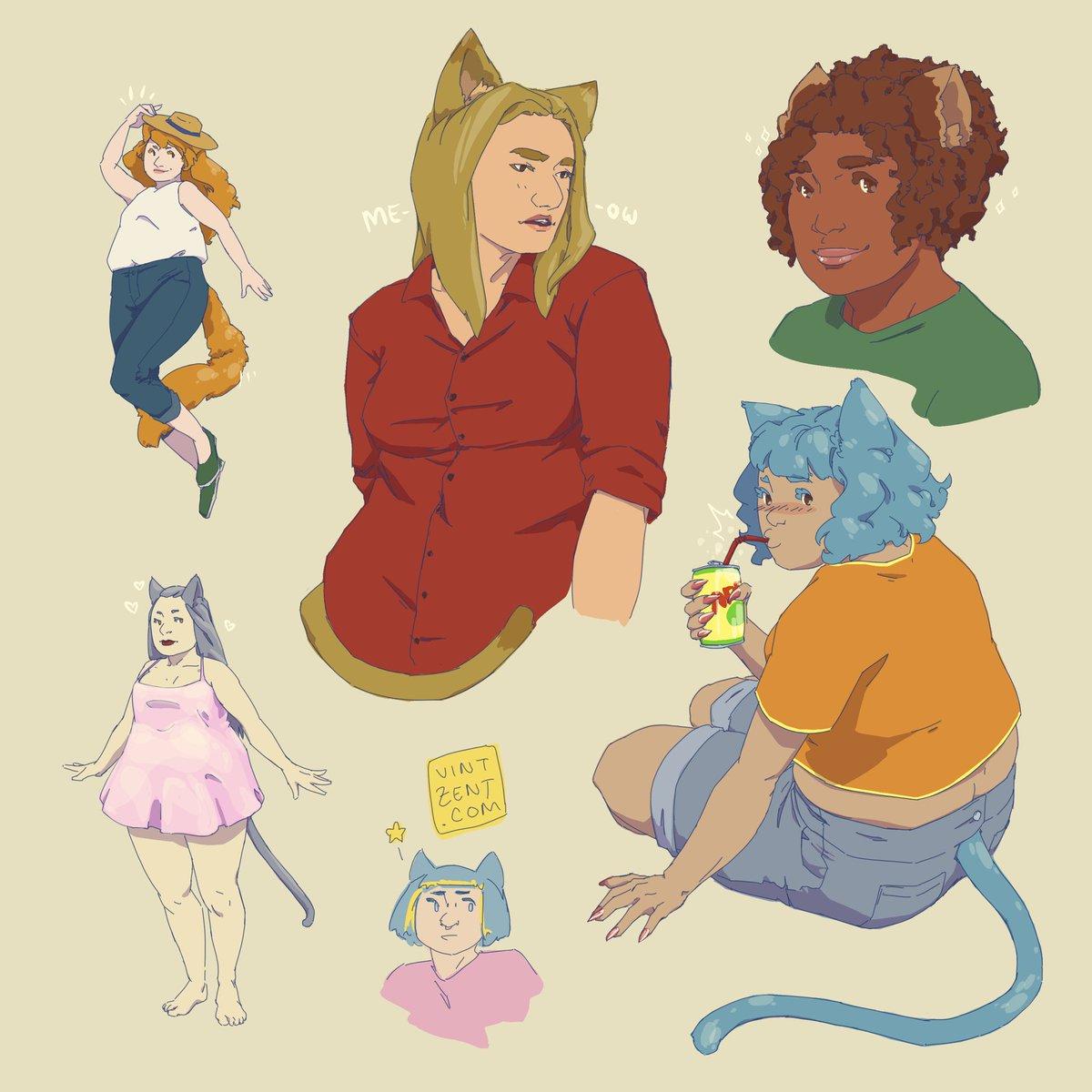 Catgirls while watching @notjulen stream tonight 🔥🔥🔥 #BestFriday