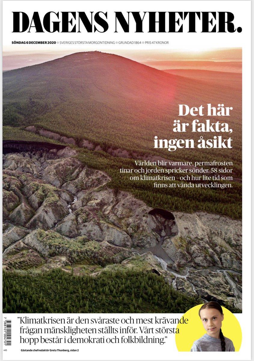 Idag läser vi alla Dagens Nyheter, va?! 58 sidor fakta om klimatkrisen.   —> https://t.co/uxU5pDmtNu <—