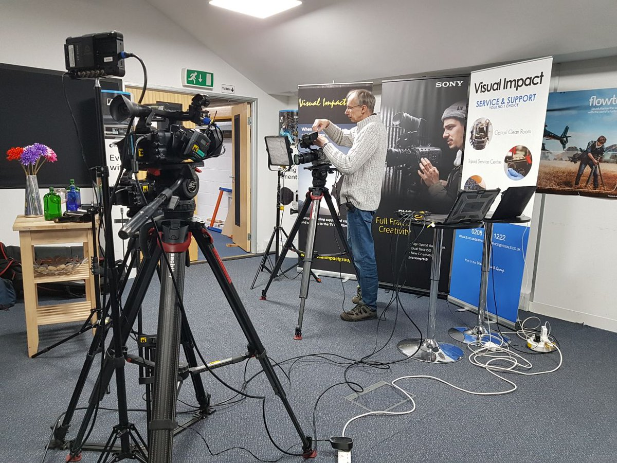 All set up and ready to stream with Alister Chapman. He will be demoing the new Sony FX6 and answering your questions.