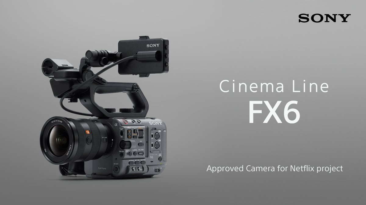 RT @sonyproeurope: Breaking news!!! We are excited to announce that our brand NEW FX6 is the tenth camera from Sony to join Netflix's list…