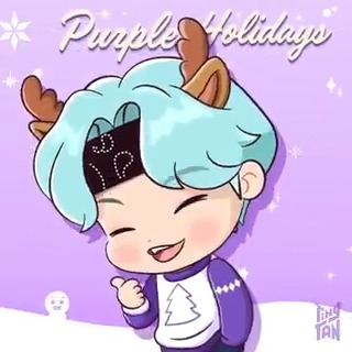 [#Run_TinyTAN!]  That's right! It's 'THE TINY ONE's holiday🎄  #TinyTAN #Purple_holiday #Holiday_mood