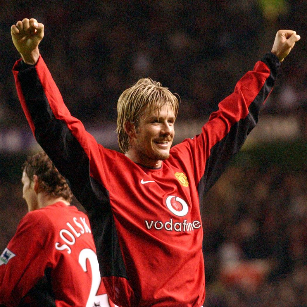Behave yourself, Becks 😍  #MUFC #GoalOfTheDay