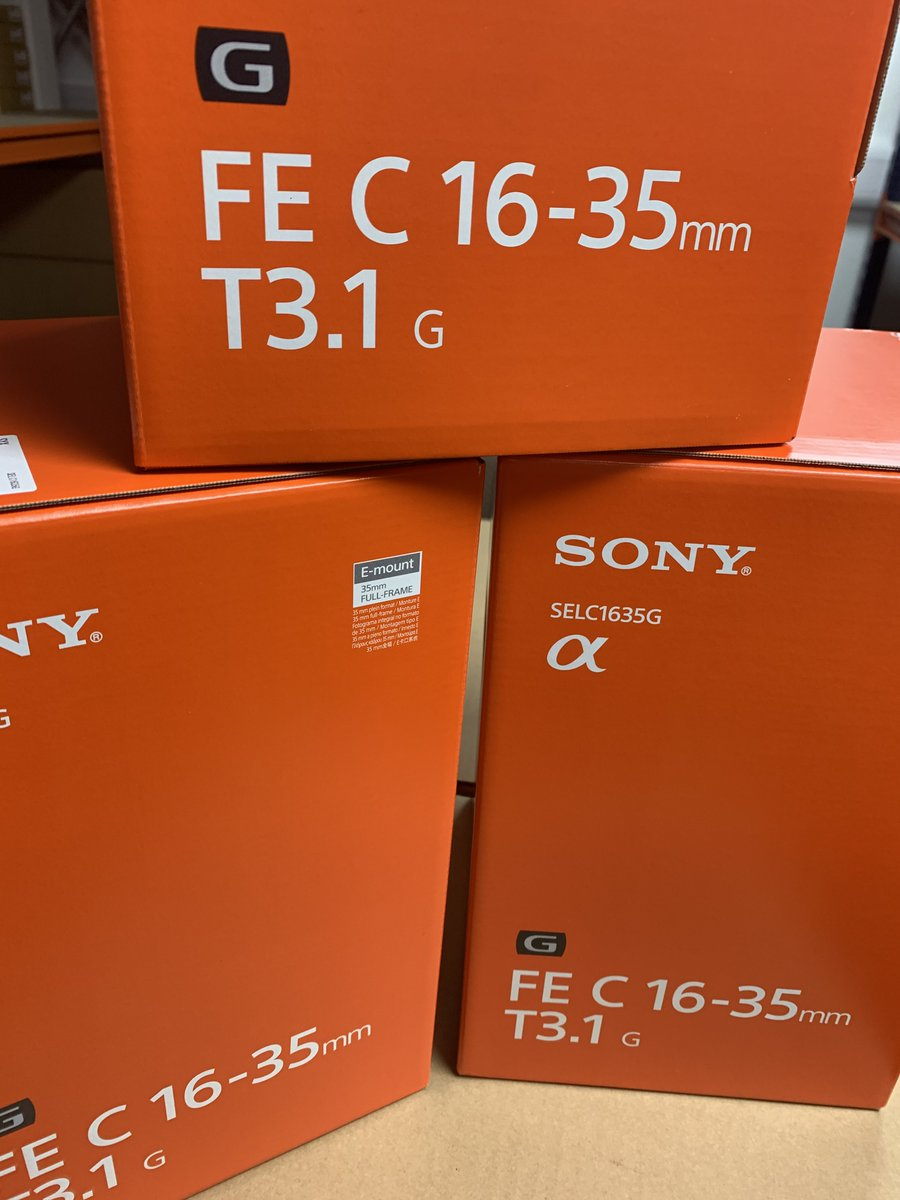 New into stock: Sony FE C 16-35 mm T3.1 Cinema Lens.