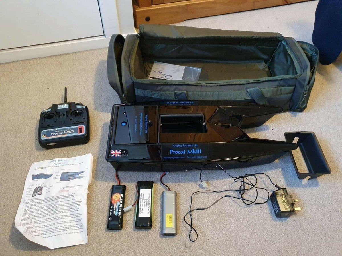 Ad - Procat Mk3 Bait Boat, 3 batteries &<b>Amp;</b> Carry Bag On eBay here -->> https://t.co/C