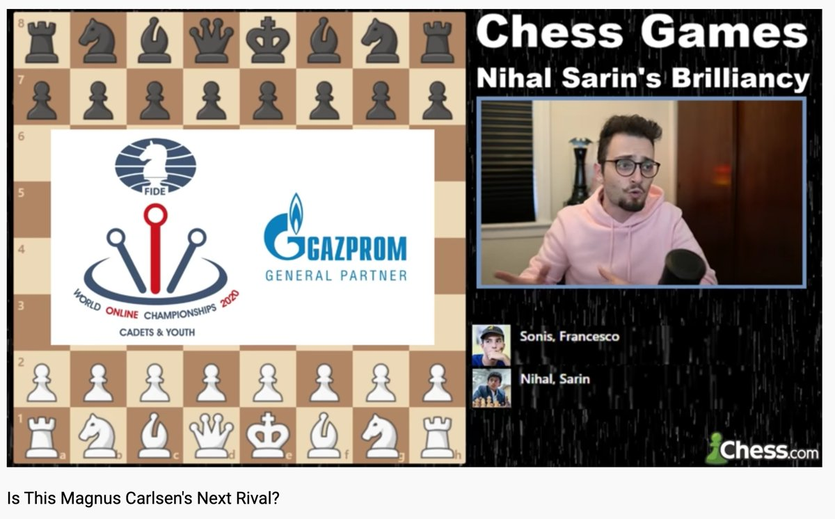 "test Twitter Media - We're truly honored to have had IM Levy Rozman, aka @GothamChess, as a judge for the Gazprom Brilliancy Prize to the best game from the World Cadets & Youth. His vote went to Nihal Sarin for a game that he described as ""epic"" in the following video: https://t.co/V5g1sWXwhk https://t.co/uM7V44WJvL"