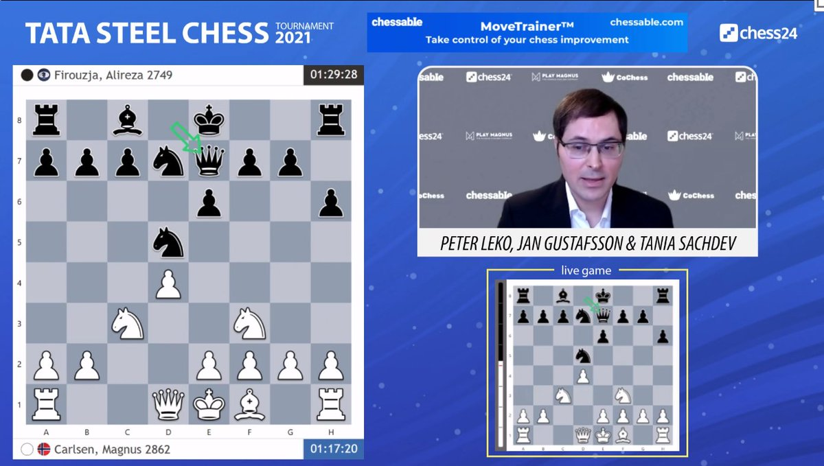 "test Twitter Media - ""This is the dream that Black is trying to achieve in this line!"" (Peter)  Jan and Peter think something has gone a little wrong for Magnus: https://t.co/kRRPSdFnza  #c24live #TataSteelChess https://t.co/eihIWNvOqO"