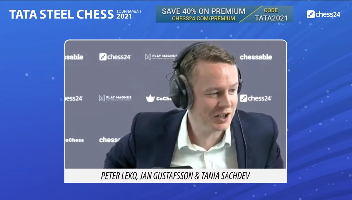"test Twitter Media - ""Normally as Magnus you want a smoother start - not something so high stakes in Round 1!"" says Jan of Carlsen-Firouzja: https://t.co/kRRPSdFnza  #c24live #TataSteelChess https://t.co/6lx1iH3StI"