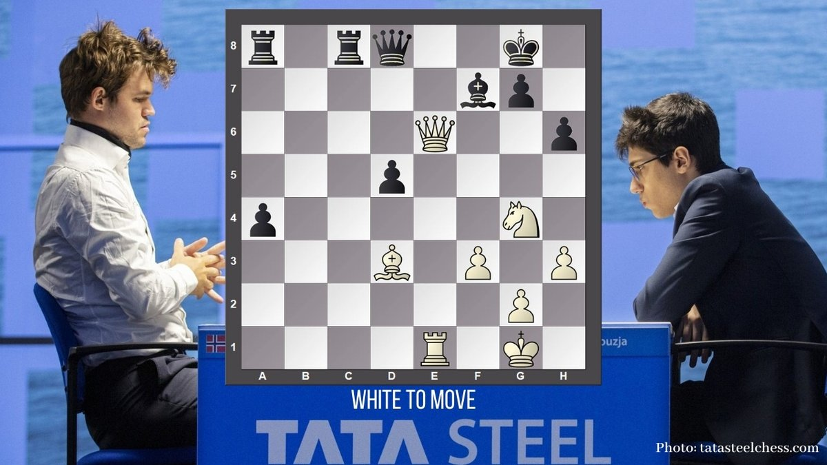 test Twitter Media - Play like Magnus Carlsen against Alireza Firouzja in the first round of @tatasteelchess, #YourMove   Here is the full game: https://t.co/xDWbbNio3P https://t.co/UKSE7qMCEZ