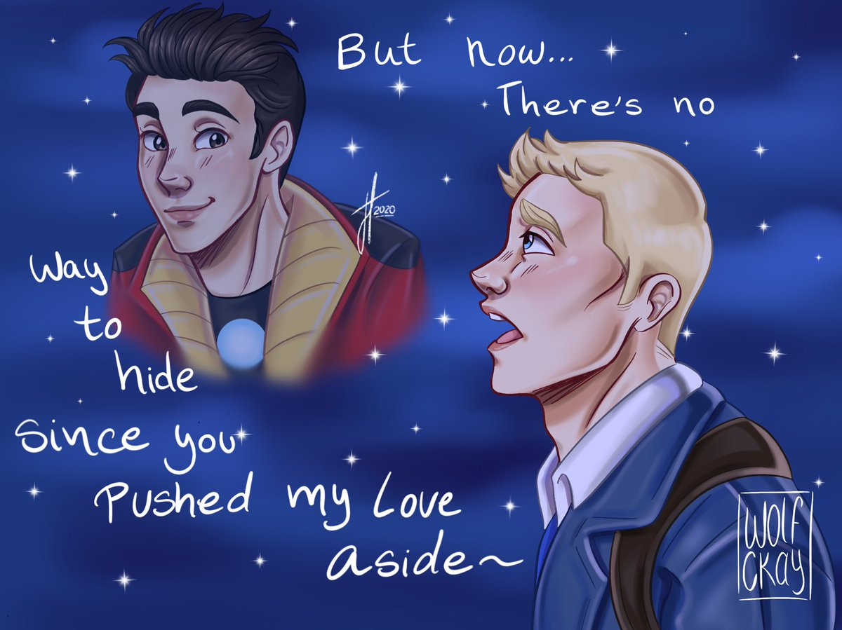 This is a quick idea that came to my mind when I listened to the glee version of this song. I only have AVAC stony thoughts 💭 💓 #stony #stevetony