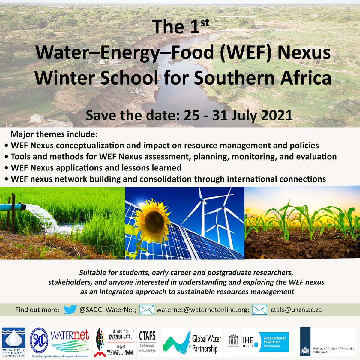 test Twitter Media - Save the date: 25 - 31 July 2021   First ever Water-Energy-Food (WEF) Nexus Winter School for Southern Africa co-hosted by @SADC_WaterNet   https://t.co/FSqrJ3tHv3 https://t.co/YkNQCQNcxj