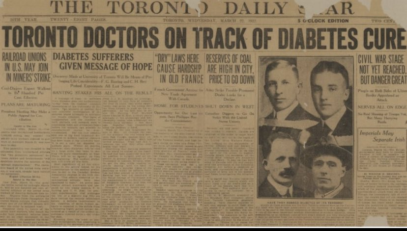 test Twitter Media - 11th January 1922  99 years to the day....  The first dose of #Insulin was administered   A 14 year old boy called Leonard Thompson  And life was never the same again for so many many people   What a moment in the history of science 🧫 #Insulin #Diabetes https://t.co/vjpbUek6b8