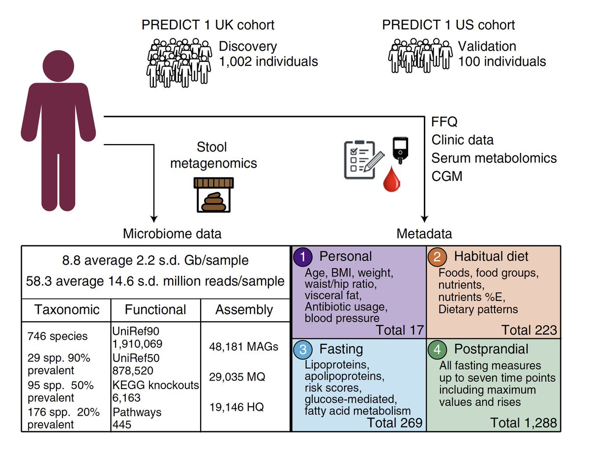 test Twitter Media - Unraveling the complex interactions of our gut #microbiome, diet and health (#obesity, #diabetes, glucose regulation, heart disease) https://t.co/OMphVErJMq @NatureMedicine by @fasnicar @saraheeberry @timspector @nsegata and colleagues #AI https://t.co/Q9haU7zuP9