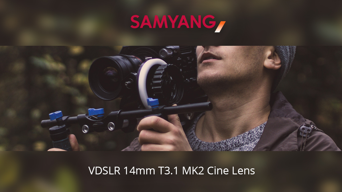Samyang has made an ultra-wide addition to it's VDSLR MK2 cine range with the 14mm T3.1 MK2 Cine Lens - Now available from Visual Impact.