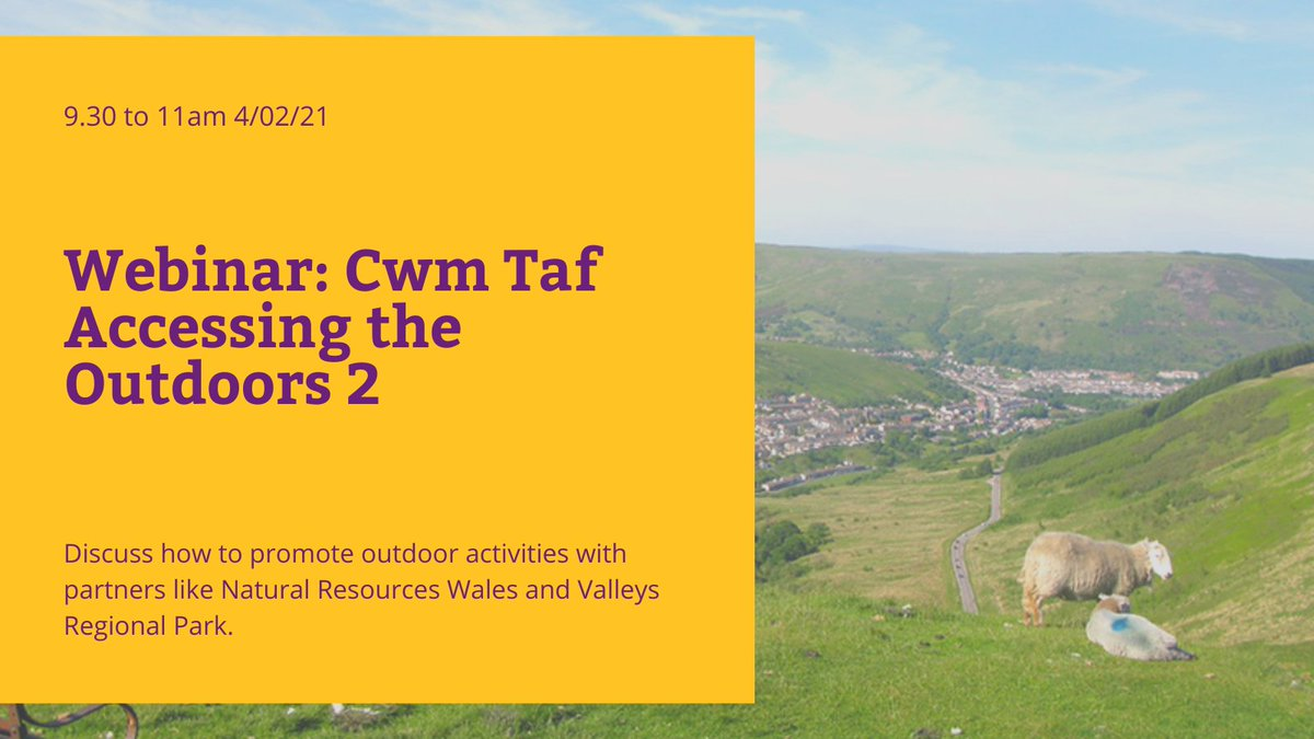test Twitter Media - Discuss how providers can work with each other and partners to promote outdoor activities at 'Cwm Taf Accessing the Outdoors 2' 11/02/21. We will look at activities with young people. There will be films and presentations too. Book: https://t.co/7ib8lNokZ9 @CynonOrganic https://t.co/gXZiL5OIel