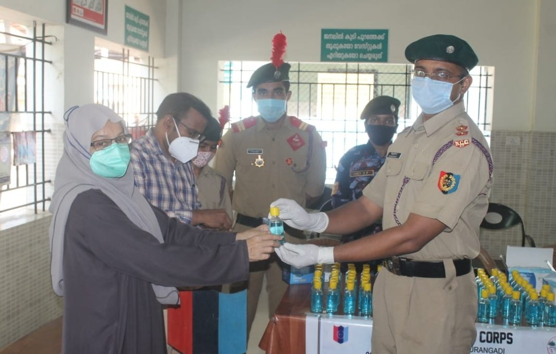 test Twitter Media - #JanAndolan NCC Group of Calicut &29 Kerala BN NCC Calicut University,#NCC unit of PSMO College Tirurangdi conducted distribution of mask and sanitizer to patients who visited the OP of Govt. Taluk hospital Tirurangadi. #Unite2FightCorona Follow pandemic appropriate behaviour https://t.co/YgVbEJPgsa