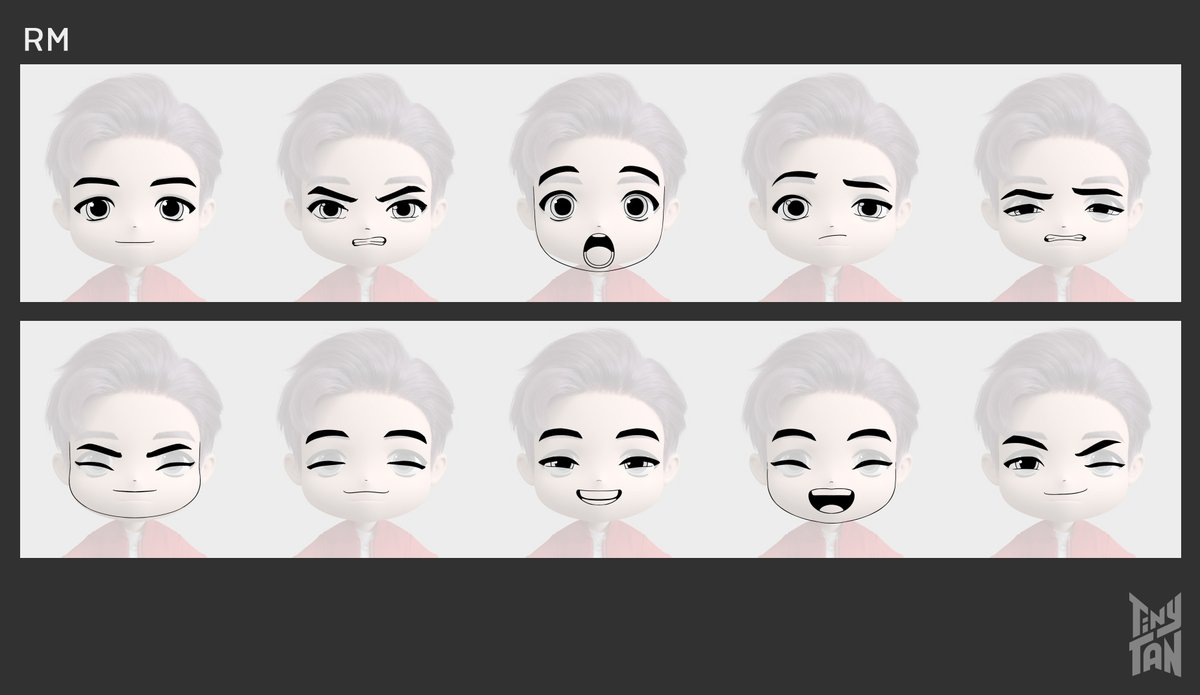 [TinyTAN | ANIMATION] - Dream ON Production Note - Character Facial Expression Guide (1/2)  #TinyTAN
