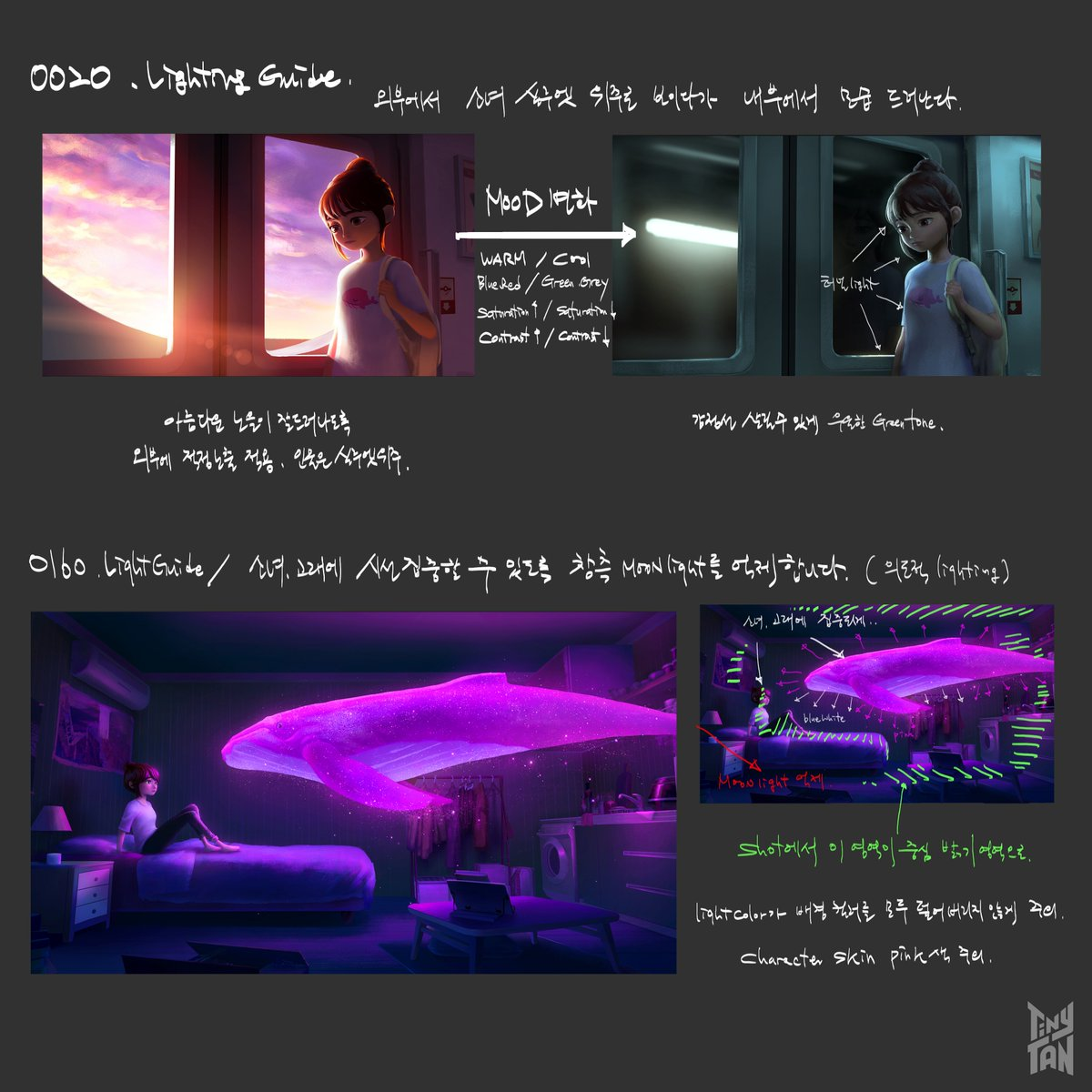 [TinyTAN | ANIMATION] - Dream ON Production Note - Lighting Direction Notes   #TinyTAN