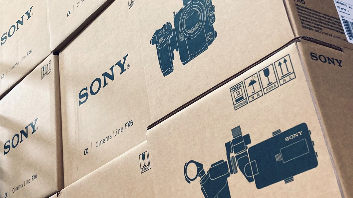 Sony FX6 arriving in stacks.