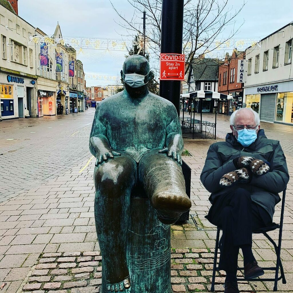 Probably should have been the first effort !  #loughborough #berniememes #sockman #twitter https://t.co/tiMQrBCLhc