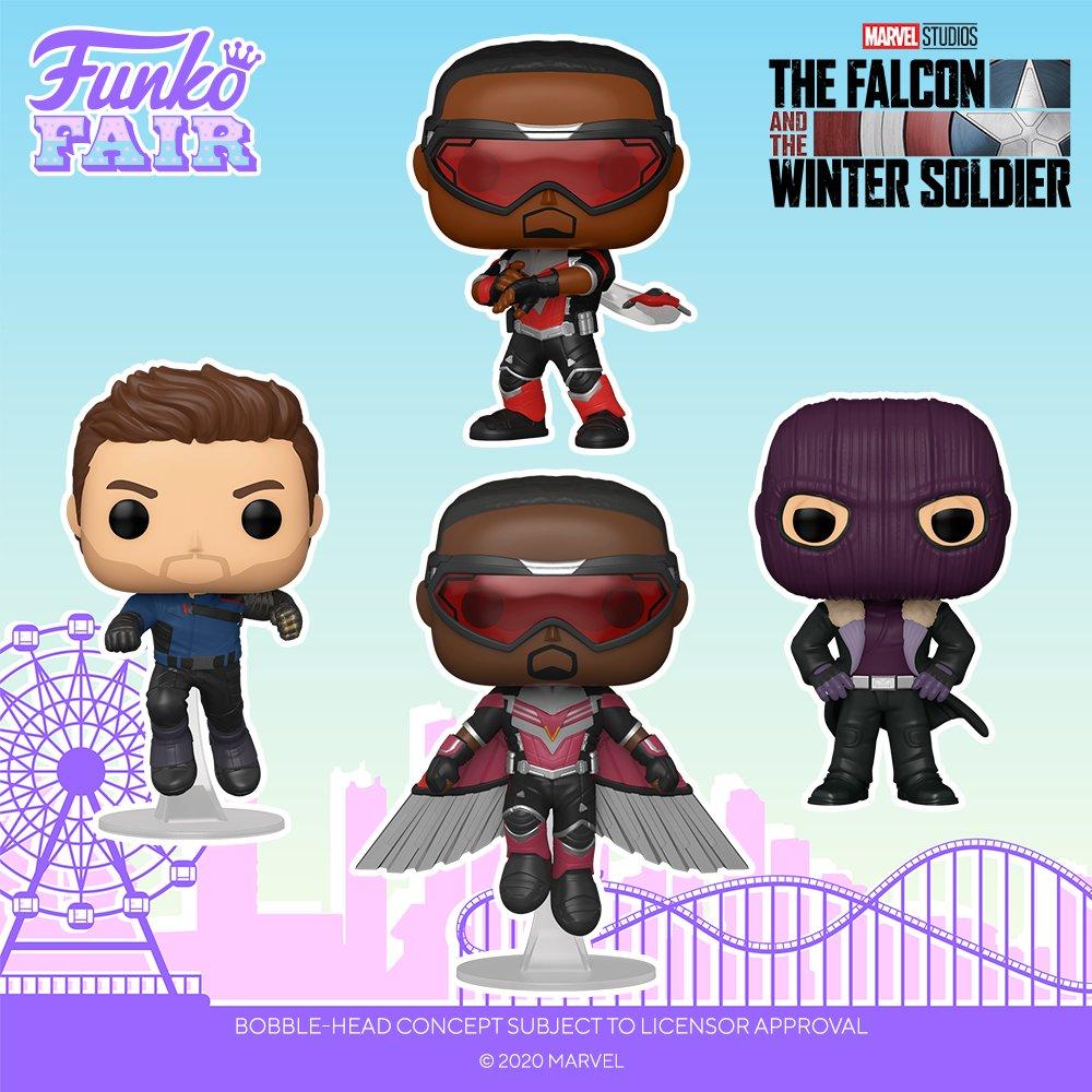 Funko Fair 2021: Marvel Studios - The Falcon and The Winter Soldier. Order yours today!  #FunkoFair #Funko #Marvel #DisneyPlus @falconandwinter