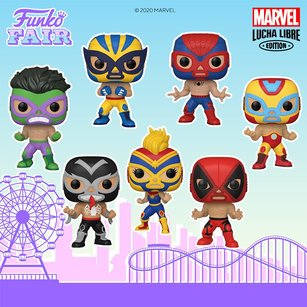 ICYMI: Funko Fair 2021: Pop! Marvel: Marvel Lucha Libre. Now Available!  Tambien disponible en Mexico  #FunkoFair #Funko #Marvel