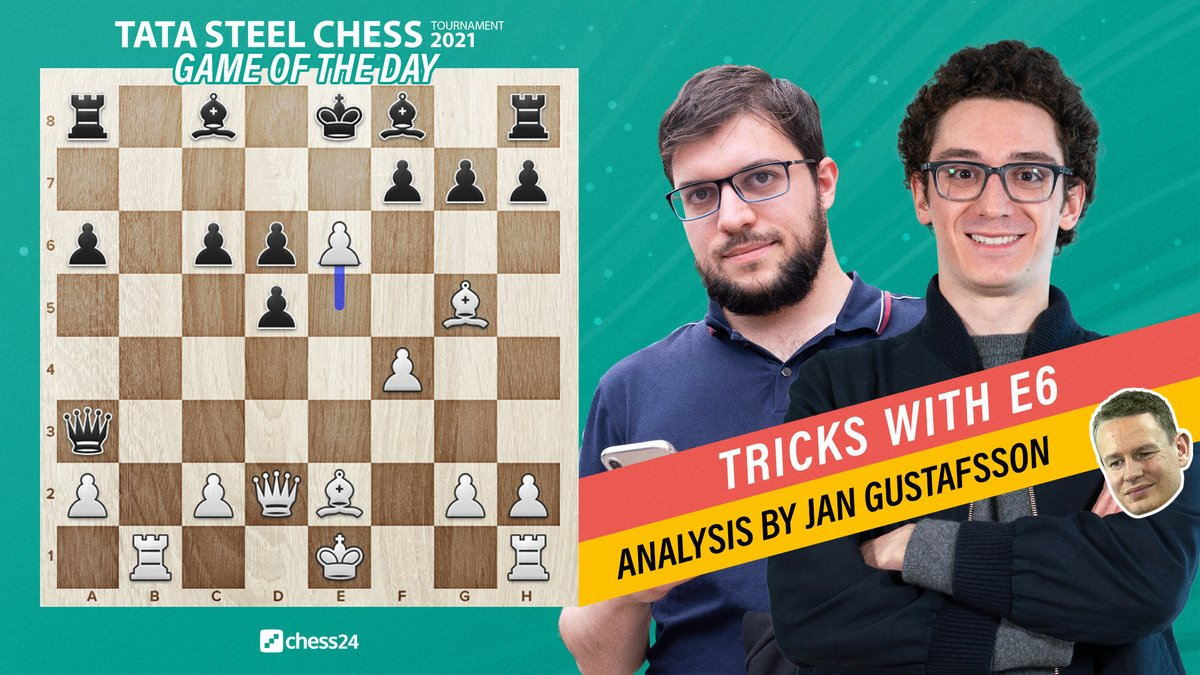 test Twitter Media - Maxime Vachier-Lagrave found the pawns really are poisoned in the Najdorf as he was losing after Fabiano Caruana found 14.e6! @GMJanGustafsson takes us through a crushing win for Fabi:   https://t.co/94HKh9jPGF   #c24live #TataSteelChess https://t.co/j7kFDgancA