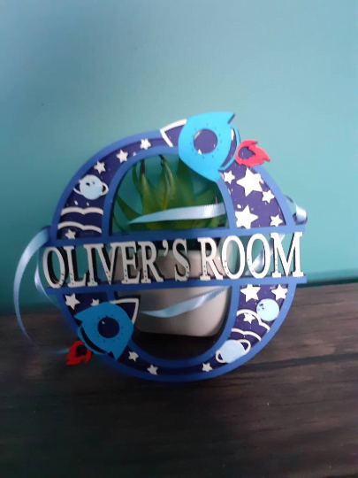 New / Updated Product: Personalised Boys Outer Space Bedroom Decoration...