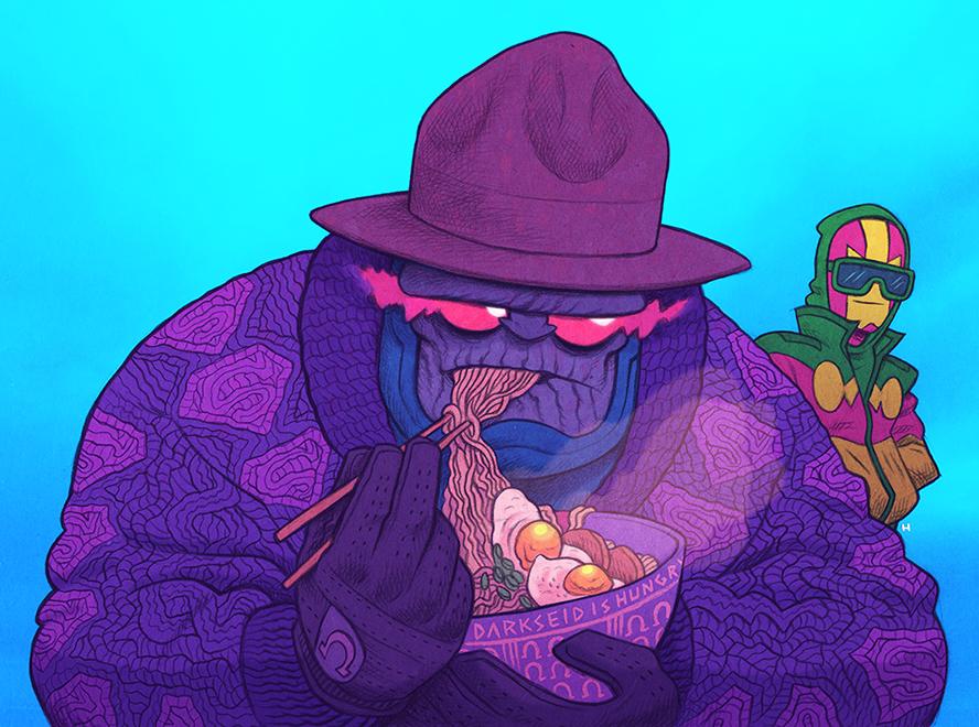 Darkseid is hungry.