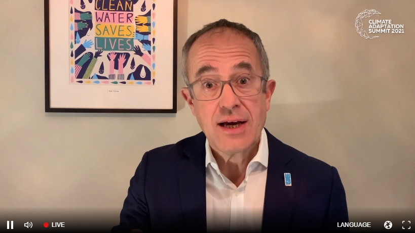 """""""Globally, two billion people already do not have a reliable source of clean water. #Climatechange is deepening this crisis through frequent impacts on available water sources. We must act now to help vulnerable communities build climate resilience."""" @WainwrightTim @CASsummit2021 https://t.co/ltY5qcEXlu"""
